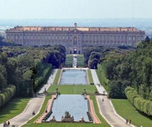 Puzle Královský palác Caserta, Itálie