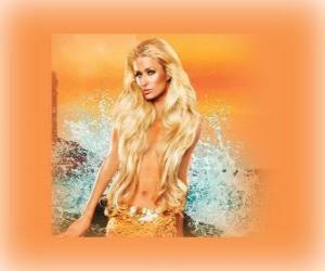 Puzle Krásná mořská panna s ní dlouhé vlasy
