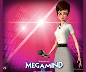 Puzle Krásná reportérka Roxanne Ritchi, který je v lásce Megamind