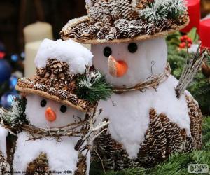 Puzle Krásné sněhuláci