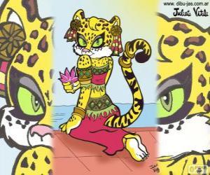 Puzle Krásné tygřice. Kresba Julieta Vitali