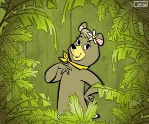 Puzle Krásný medvěd Cindy má přítelkyně Méďa Béďa
