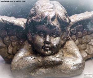 Puzle Krásný Vánoční anděl