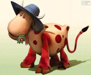 Puzle Kráva Ermintrude, jedna z postav od Magic Roundabout