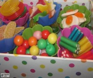 Puzle Krabice bonbónů