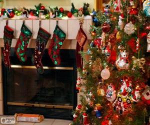 Puzle Krb, zdobené na Vánoce
