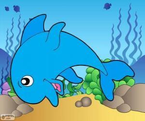 Puzle Kresba Dolphin