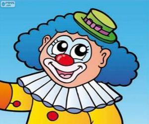 Puzle Kresba klaun tvář