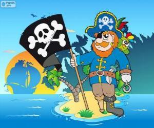 Puzle Kresba z pirátského kapitána