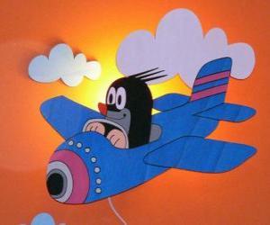 Puzle Krteček letadlem