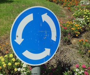 Puzle Kruhový objezd znamení