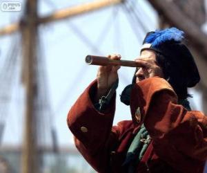 Puzle Kryštof Kolumbus dosáhl nový svět, objevení Ameriky