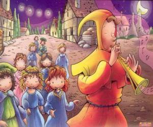 Puzle Krysař z Hameln tajemně se všechny děti z města za zvuku flétny