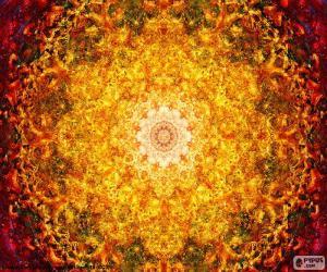 Puzle Květ života mandala