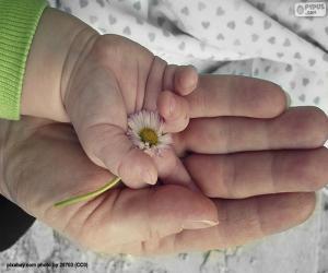 Puzle Květina pro mámu