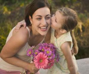 Puzle Láska dceru k její matce