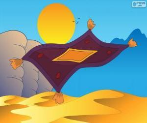 Puzle Létající koberec. Kouzelný koberec Aladin