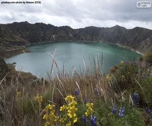 Puzle Laguna Quilotoa, Ekvádor