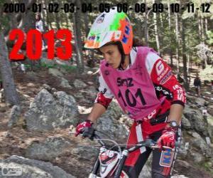 Puzle Laia Sanz, mistr světa trial 2013