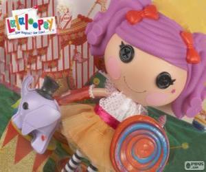 Puzle Lalaloopsy panenka, Peanut Big Top s její pet, slon