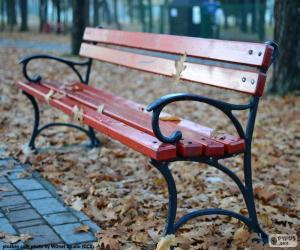 Puzle Lavička na podzim