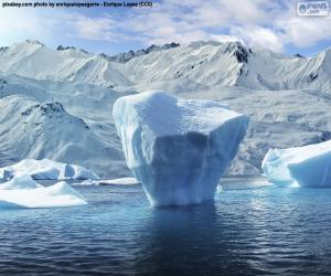 Puzle Ledovec poblíž mořského pobřeží