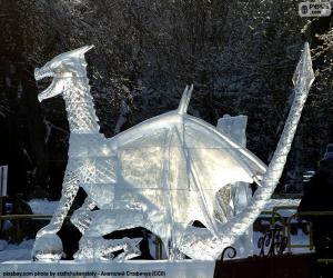 Puzle Ledu drak