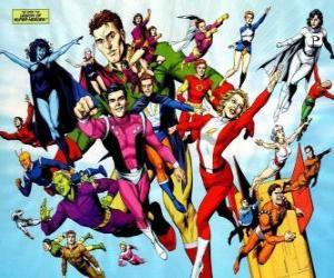 Puzle Legion of Super-Heroes je tým superhrdinů komické knihy, které patří do vesmíru, které patří do redakční DC.