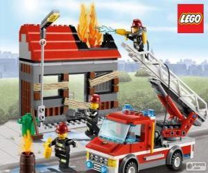 Puzle Lego hasiči