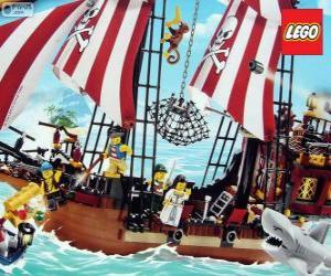 Puzle Lego pirátská loď