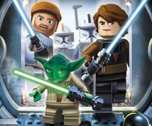 Puzle Lego Star Wars: Yoda, Luke Skywalker, Obi-Wan Kenobi