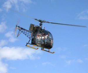 Puzle Lehký vrtulník