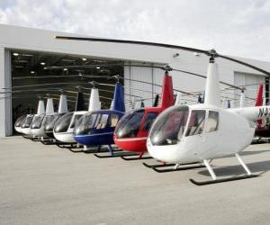 Puzle Lehkých vrtulníků