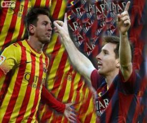 Puzle Leo Messi, nejlepší střelec v historii FC Barcelona