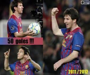 Puzle Leo Messi, střelec v dějinách španělské ligy, 2011-2012