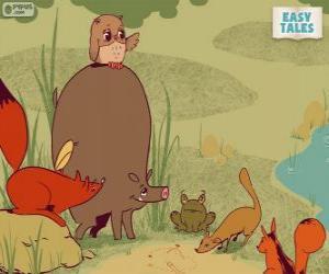 Puzle Lesní zvířata rozhodnout profesní dráhu