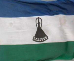 Puzle Lesothská vlajka