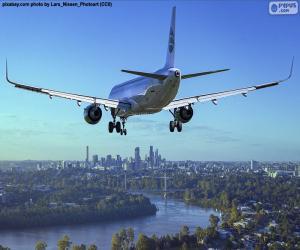 Puzle Letadla příjezdem na místo určení