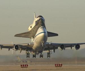 Puzle Letadlo space shuttle
