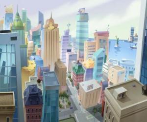 Puzle Letecký pohled na město Mouse