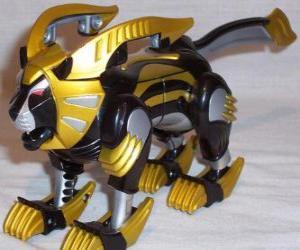 Puzle Lev Zord, Žlutý Strážce. Ninja Power Rangers