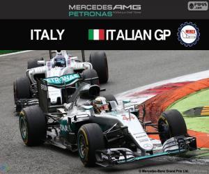 Puzle Lewis Hamilton, G.P Itálie 2016