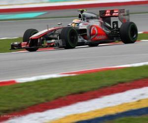 Puzle Lewis Hamilton - McLaren - Grand Prix Malajsie (2012) (3. místo)