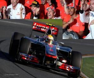 Puzle Lewis Hamilton - McLaren - Melbourne, Austrálie Grand Prize (2012) (3. místo)