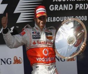 Puzle Lewis Hamilton na stupních vítězů