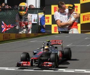 Puzle Lewis Hamilton slaví své vítězství v Grand Prix Kanady (2012)