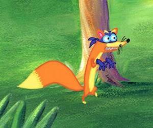 Puzle Liška Swiper vždy snaží ukrást něco k Dora