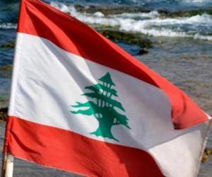 Puzle Libanonská vlajka
