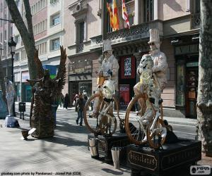 Puzle Lidské sochy, Barcelona