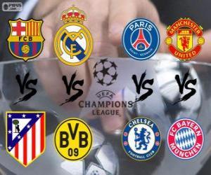 Puzle Liga mistrů - Liga mistrů UEFA 2013-14 čtvrt-finále